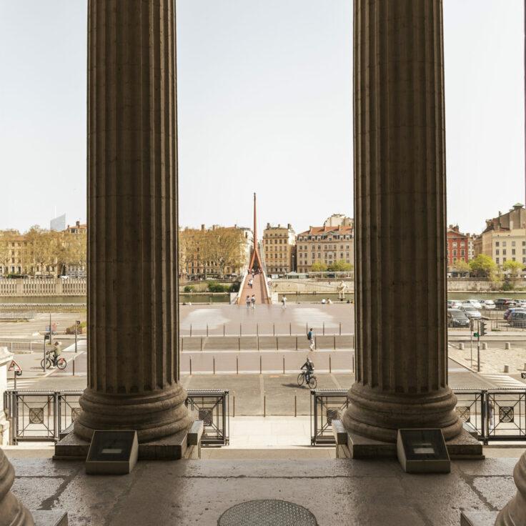 vue passerelle vieux lyon depuis l'Ancien Palais de Justice de Lyon